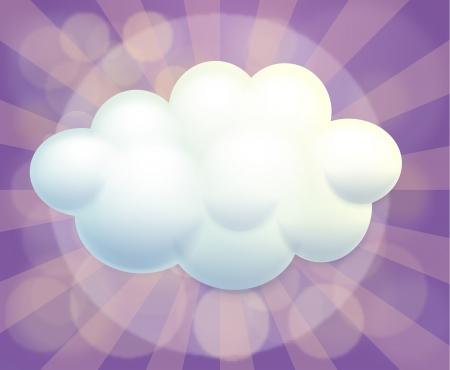 advertiser: Illustrazione di un modello di nube vuota