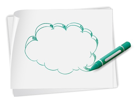 bubble sheet: Illustration of a paper with a doodle art on a white background Illustration