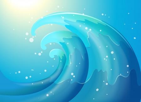 wellenl�nge: Illustration eines abstrakten einer Welle