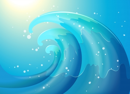 Illustration of an abstract of a wave Stock Vector - 20366652