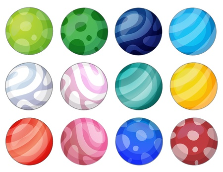 twelve: Illustration of the colorful balls Illustration