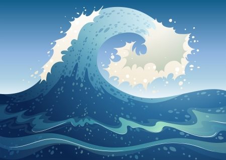 tides: Illustration of a wave abstract