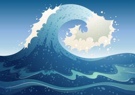 wavelength: Ilustraci�n de un resumen de onda