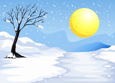 Illustration of a snowy evening Stock Vector - 20517689