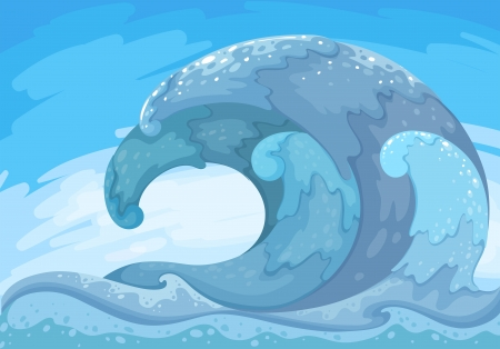 tides: Illustration of the great wave