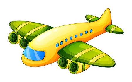 airplane: Illustration of an airplane on a white background