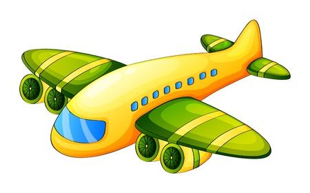 Plane Pilot: Ilustraci�n de un avi�n sobre un fondo blanco