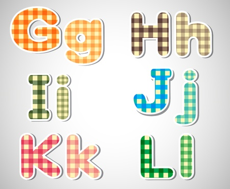 graders: Illustration of the colorful alphabet letters on a silver background