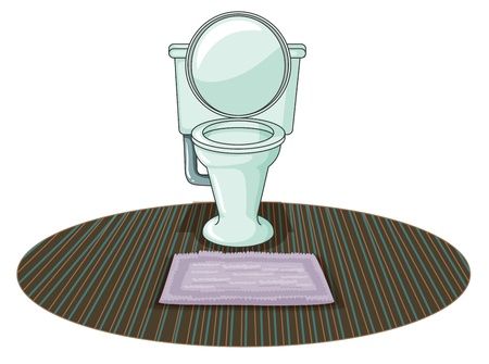 Illustration of a  toilet bowl on a white background  Vector