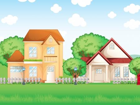 ocas: Ilustración de las dos grandes casas Vectores