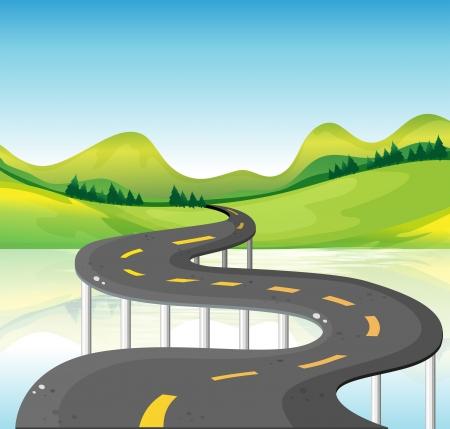 Illustration d'une route de courbe très étroite Vecteurs