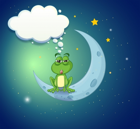 Illustration of a frog at the sky with an empty callout Stock Vector - 20729798