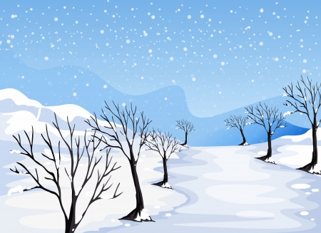 Illustration of a place covered with snow Vector