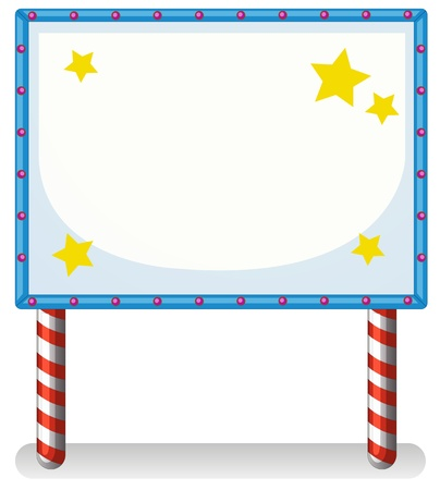 Illustration an empty frame banner with stars on a whiite background Stock Vector - 20729458
