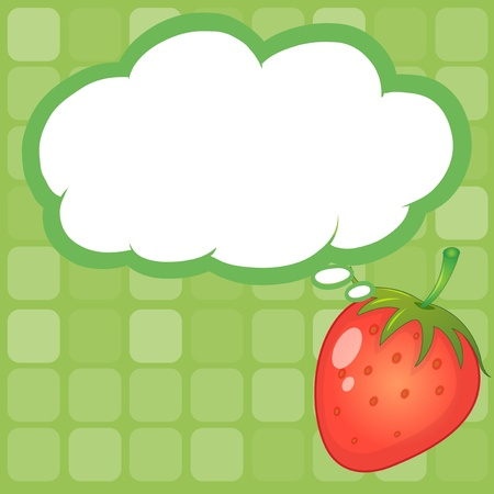 Illustration of a strawberry with an empty callout Stock Vector - 20888634