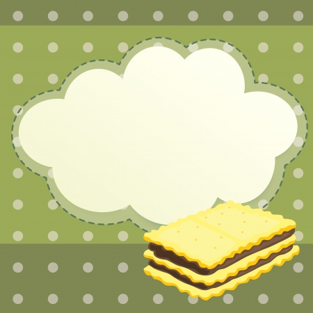 fillings: Illustration of a stationery with a biscuit