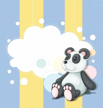 stuffed animals: Illustration of a stationery with a panda Illustration