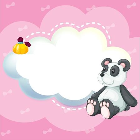 pinkish: Illustration of a stationery with a panda Illustration