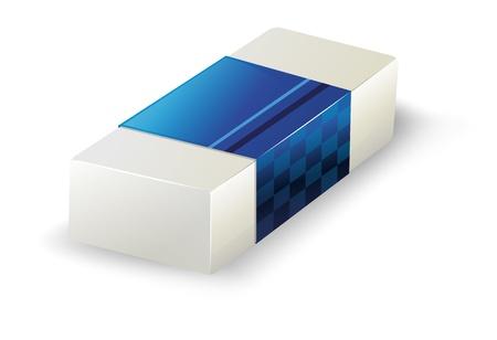 白い背景に消しゴムのイラスト  イラスト・ベクター素材