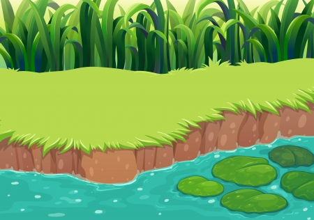 Illustration of an image of a pond