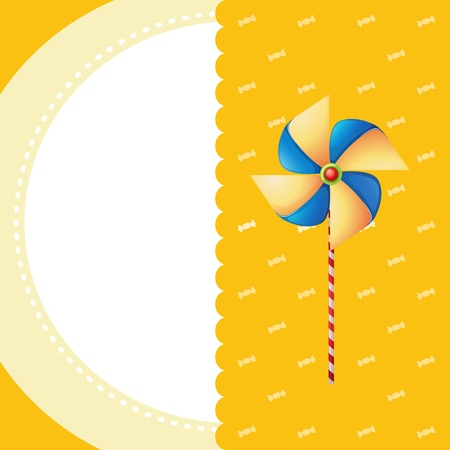 colofrul: Illustration of a stationery with a windmill
