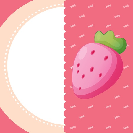 Illustration of a stationery with a strawberry Stock Vector - 21094899