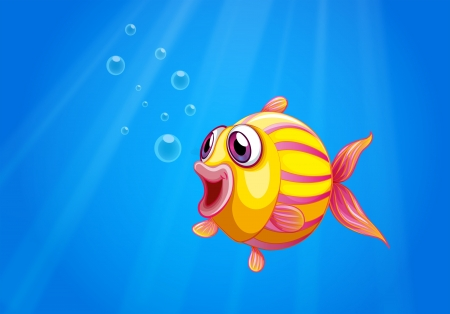 Illustration of a colorful bubble fish under the sea Stock Vector - 21095030