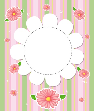 Illustration of a flowery designed stationery Stock Vector - 21095057