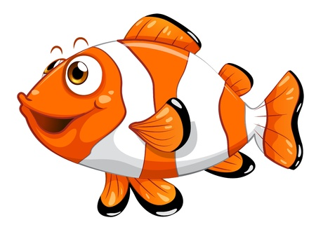 Illustration of a nemo fish on a white background  Vector