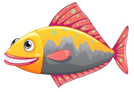 Illustration of a colorful big fish on a white background Stock Vector - 21095072