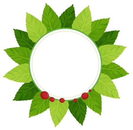 Illustration showing a leaf plate on a white background Stock Vector - 21095144