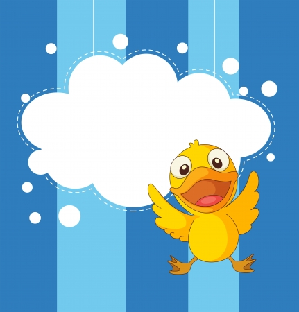skyblue: Illustration of a stationery with a playful duckling Illustration