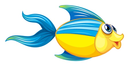 underworld: Illustration of a fish on a white background Illustration