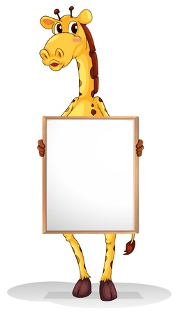 hoofs: Illustration of a giraffe on a white background