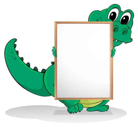 alligator eyes: Illustration of a crocodile on a white background