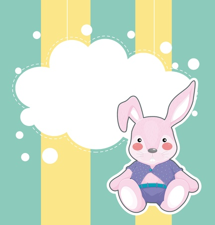 Illustration of a stationery with a sad bunny Stock Vector - 21234679