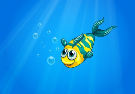sanctuaries: Illustration of a fish swimming in the sea