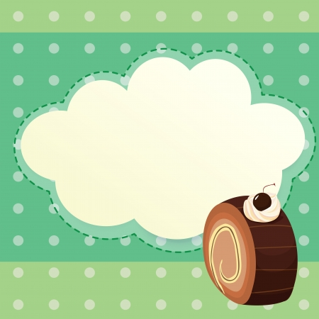 Illustration of an empty stationery template with a choco roll Stock Vector - 21234886
