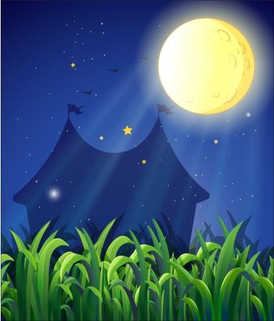 shinning: Illustration of the carnival at night Illustration
