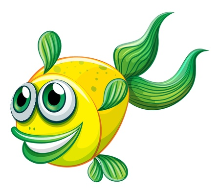 Illustration of an ugly fish on a white background Stock Vector - 21235537