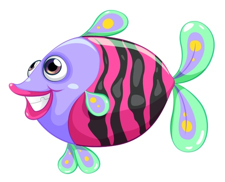 colorful fish: Illustration of a pretty fish on a white background