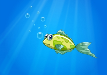 Illustration of a tiny fish in the ocean Stock Vector - 21426825