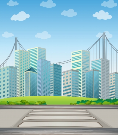 Illustration of the tall buildings in the city Stock Vector - 21658695