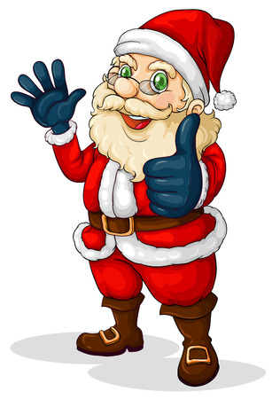 Illustration of a fat Santa Claus on a white background Vector