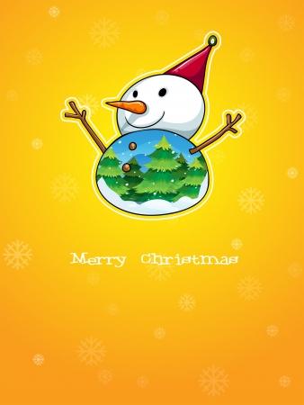 Illustration of a snowman Vector