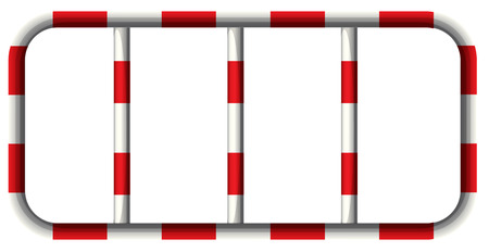Illustration of the stripe bars on a white background Vector