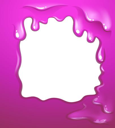 pinkish: Illustration of a border design in pink color