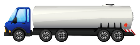 Illustration of a tanker on a white background Vector