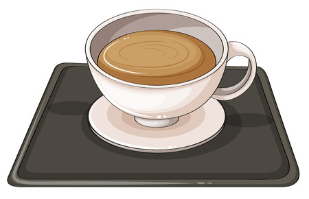 mini bar: Illustration of a cup of hot choco on a white background