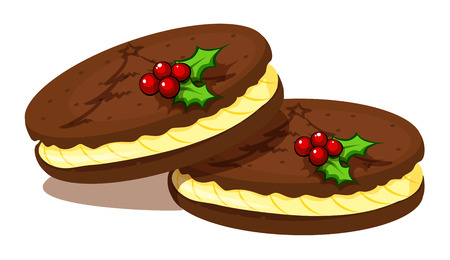 christmas cookies: Illustration of the christmas cookies on a white background